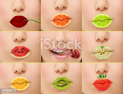 Fruit mix lips