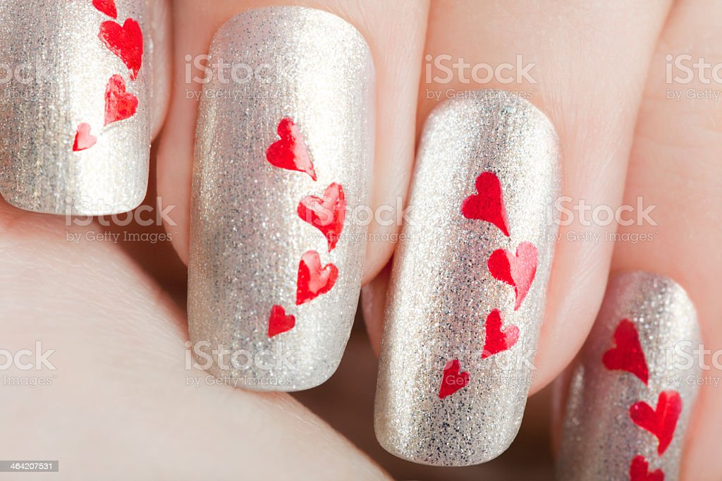 Womans Nails Designed After A Manicure Stock Photo More Pictures