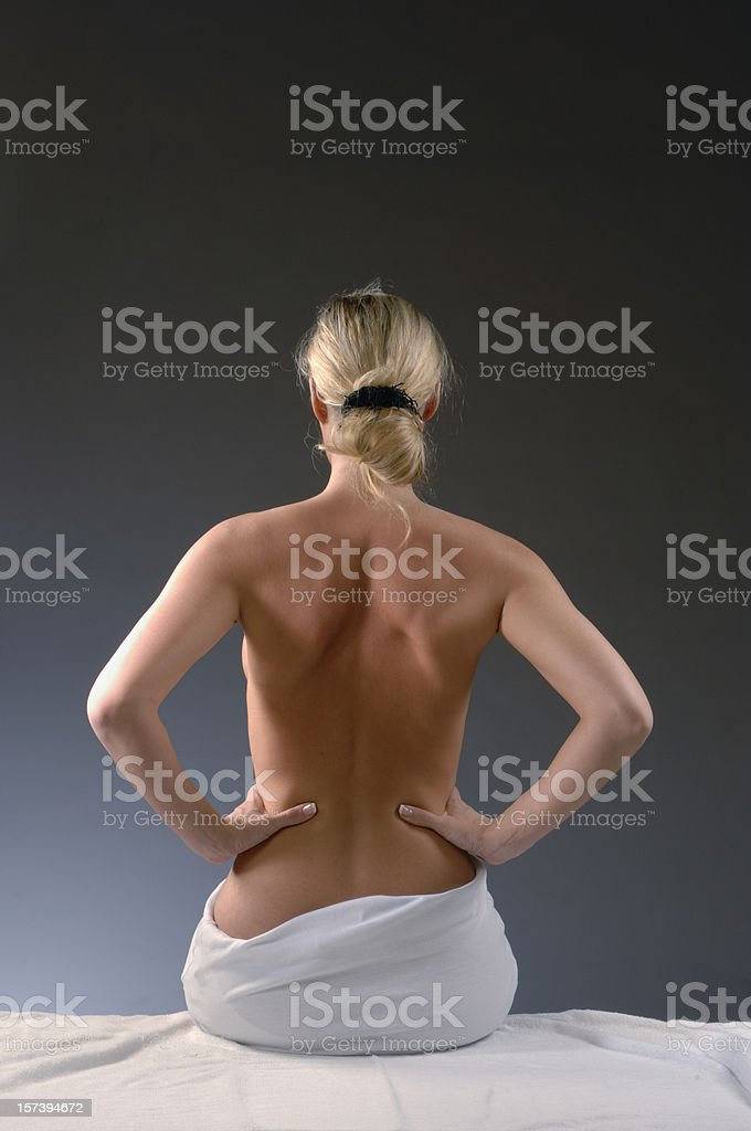 Woman's nude back royalty-free stock photo