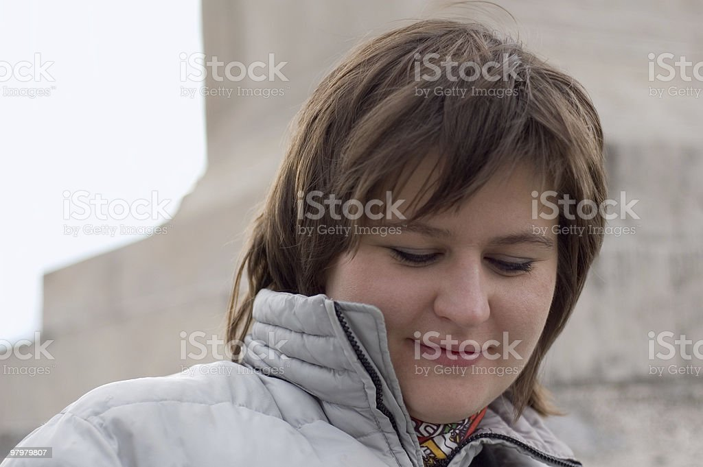 woman's outdoor portrait royalty-free stock photo