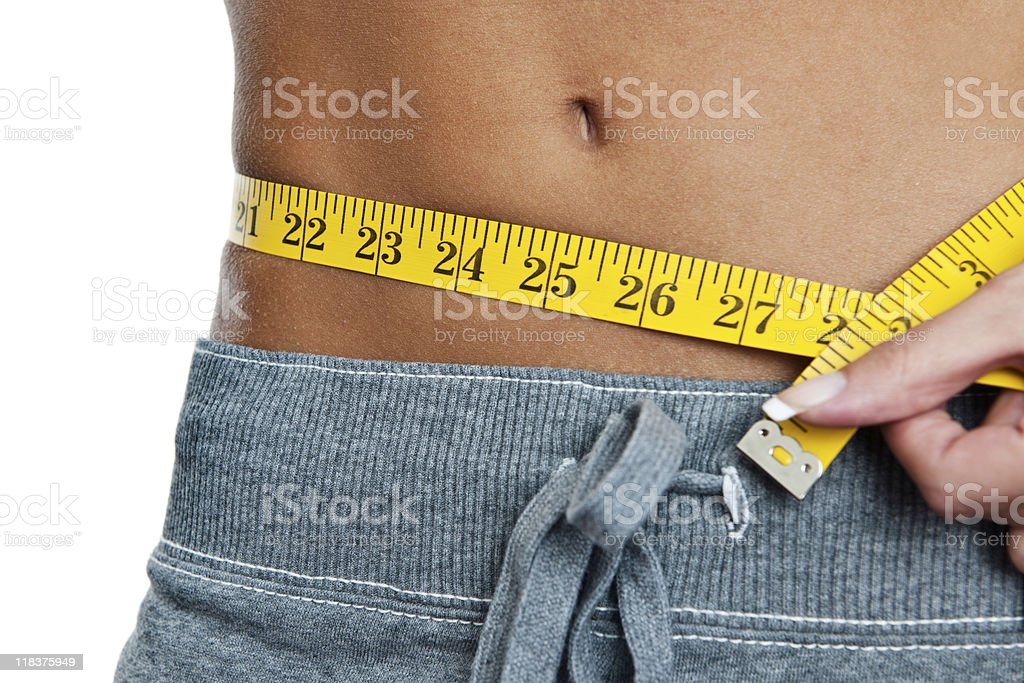 Woman's perfect waist royalty-free stock photo