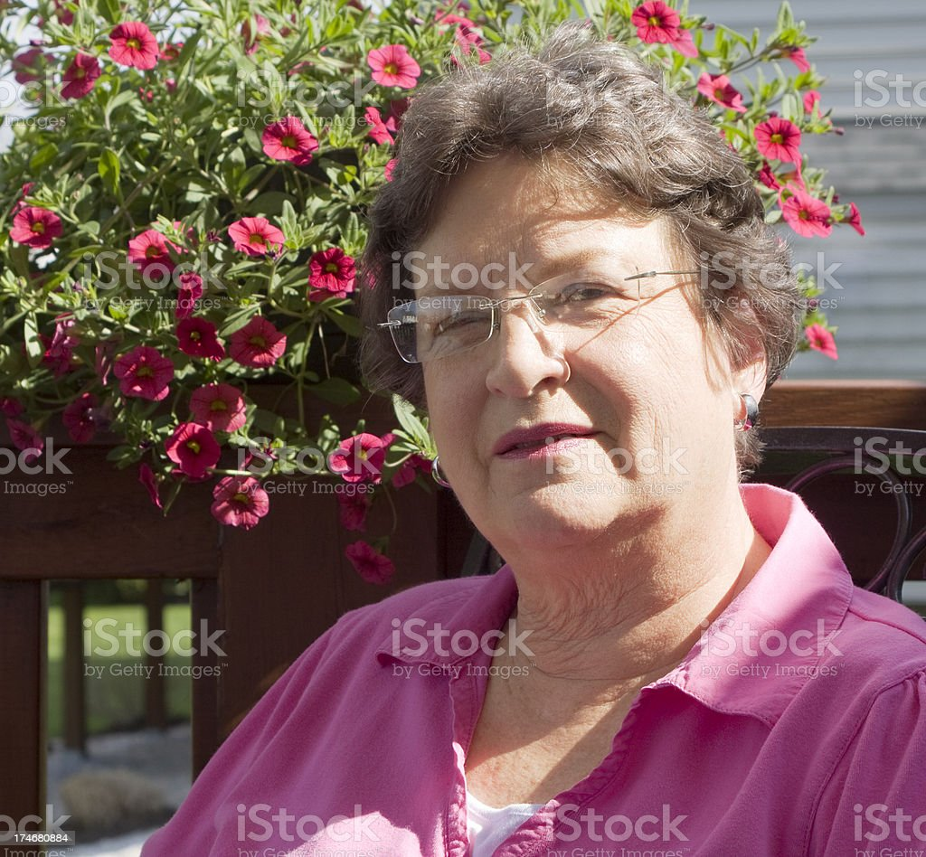 Woman's Portrait in Pink royalty-free stock photo