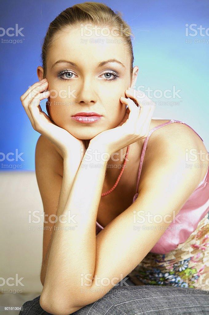 Womans portrait royalty-free stock photo