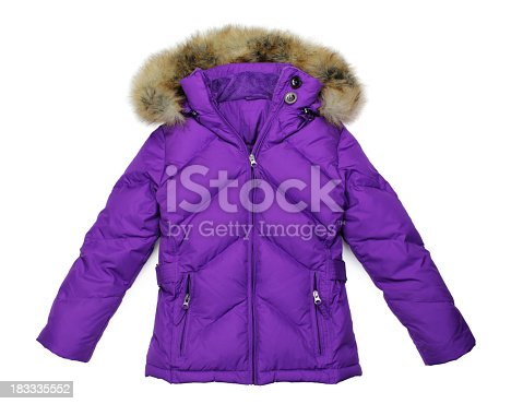 Casual winter jacket isolated on white