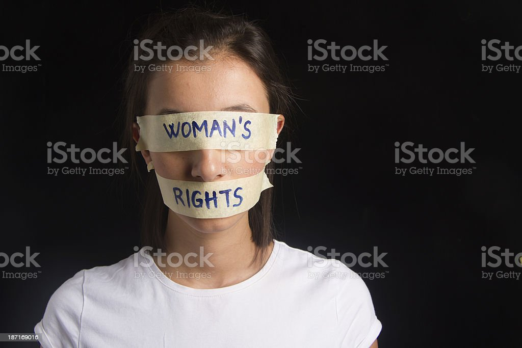 Woman's Rights Concept royalty-free stock photo