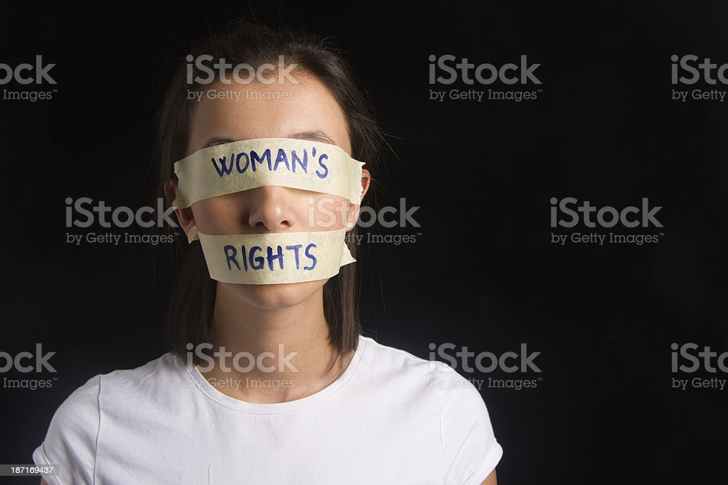 Woman's Rights Concept stock photo