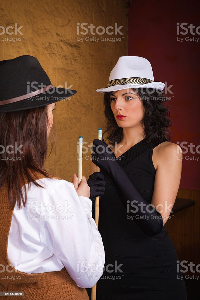 Woman's rivalry stock photo