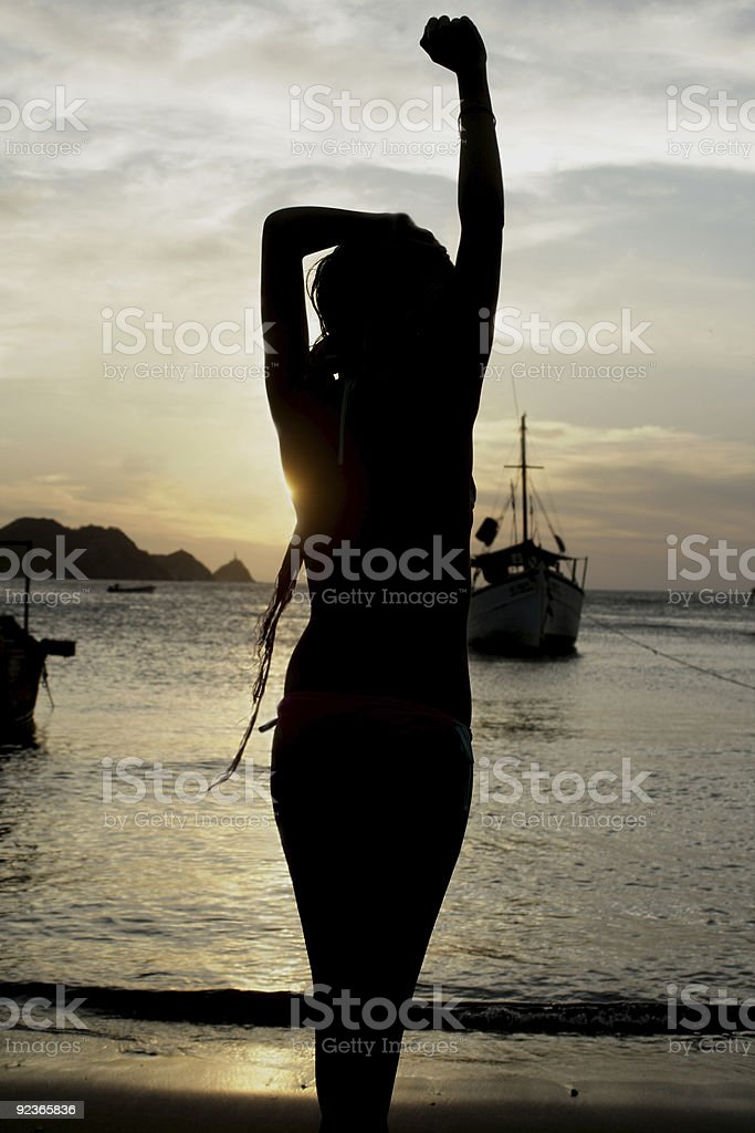 Woman´s Silhouette royalty-free stock photo