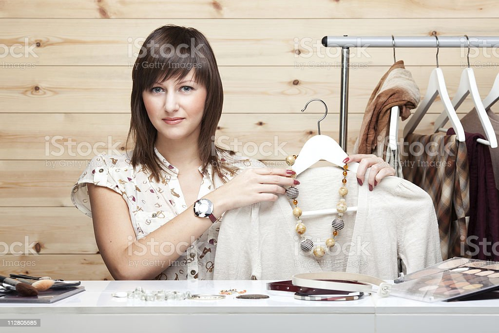 Woman's stylist royalty-free stock photo