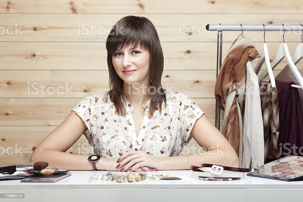 Woman's stylist royalty-free stock photo