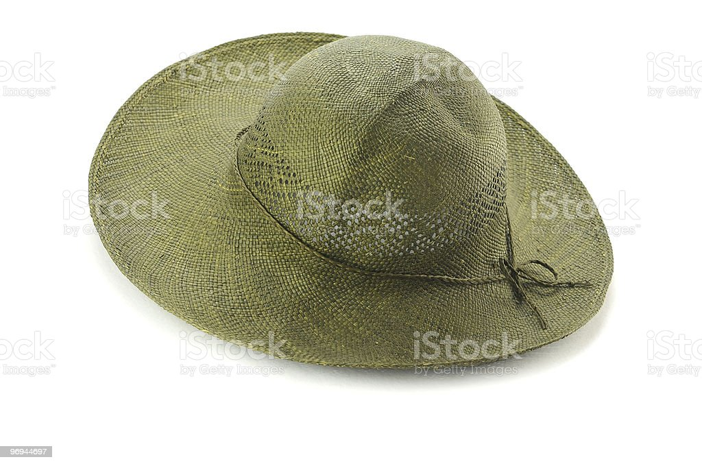 Woman's sun hat isolated on white royalty-free stock photo