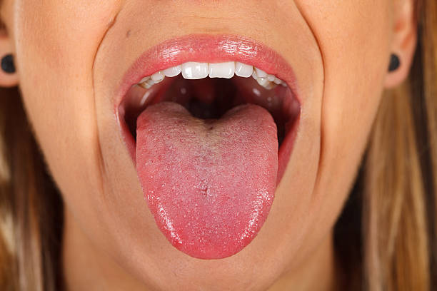 woman's tongue - mensentong stockfoto's en -beelden
