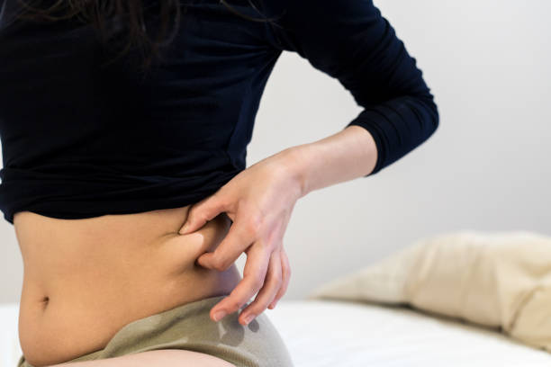 Woman's waist stock photo