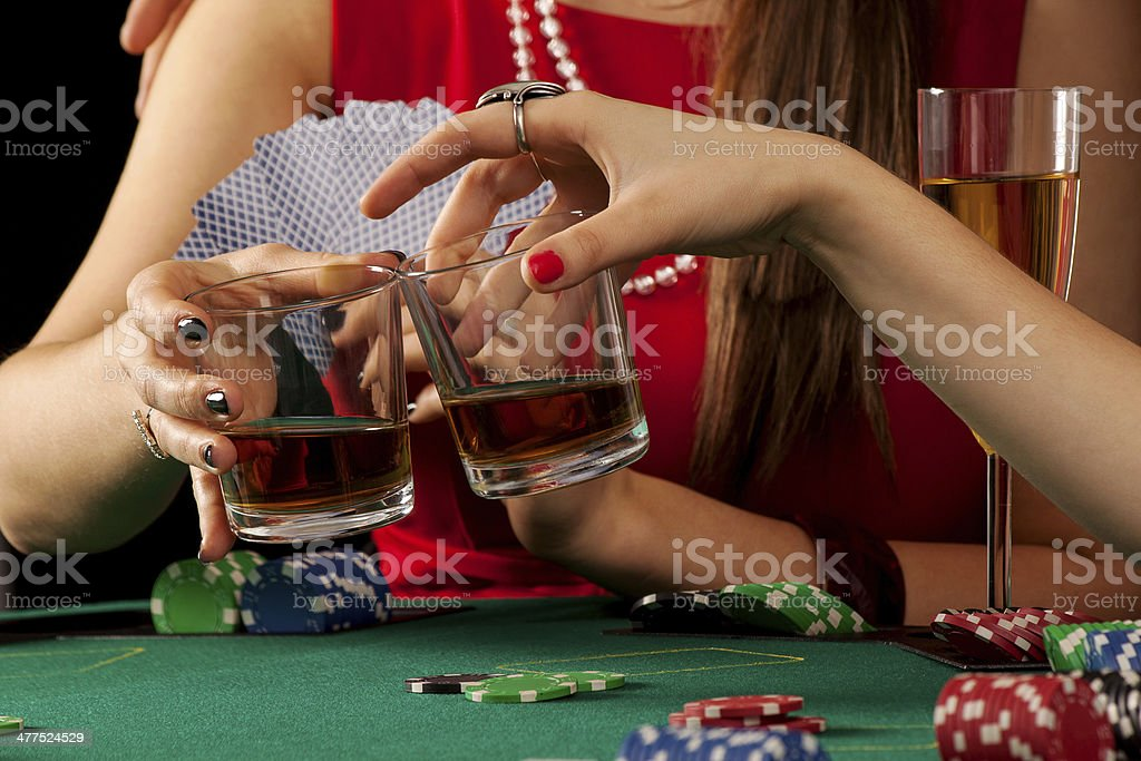 Woman's whiskey toast royalty-free stock photo