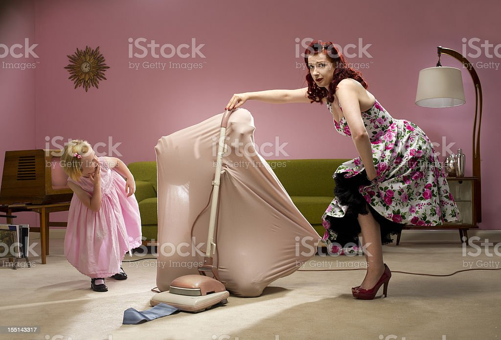 woman's work is never done stock photo