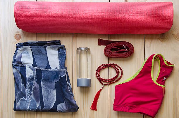 Woman's yoga outfit stock photo