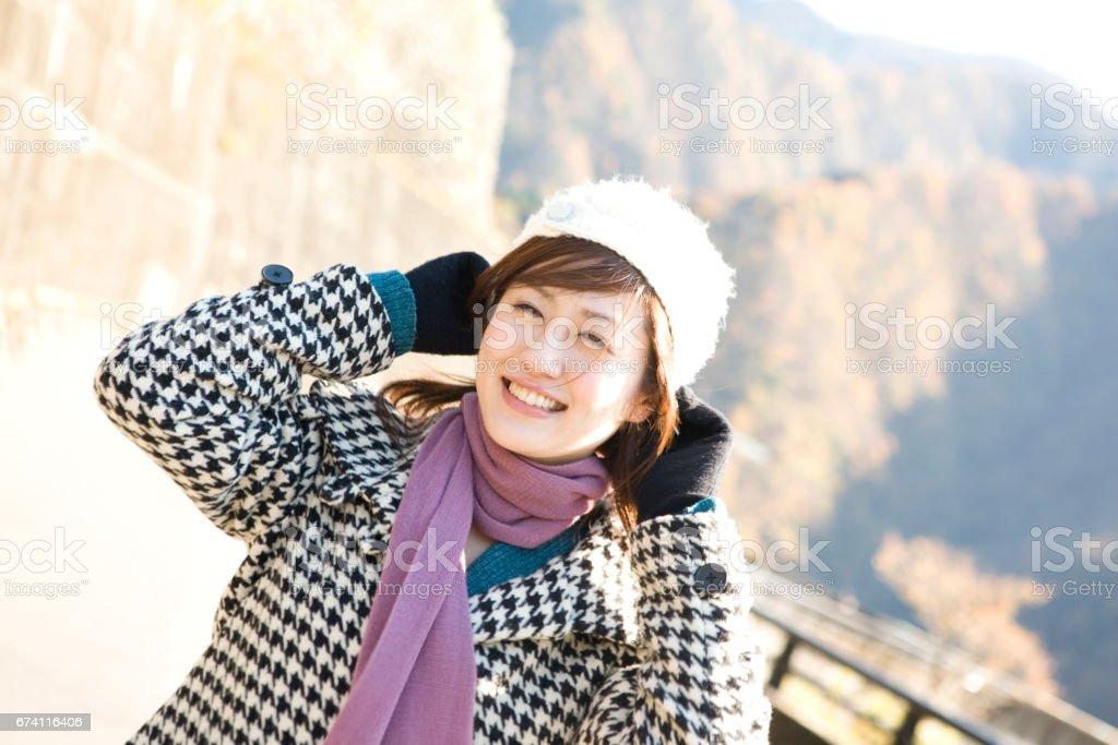 婦女又戴著帽子 免版稅 stock photo