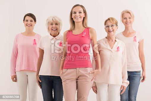 istock Women against breast cancer 626585258