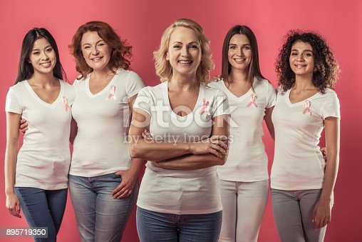 istock Women against breast cancer 895719350