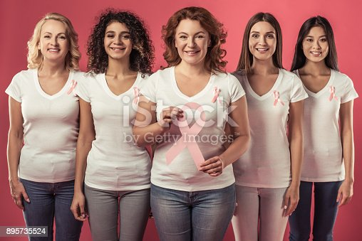 istock Women against breast cancer 895735524