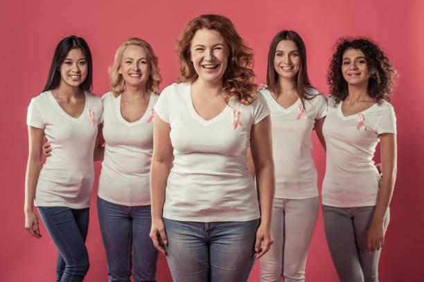 mulheres contra o câncer de mama - breast cancer - fotografias e filmes do acervo
