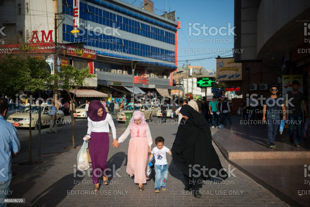 Frauen und Kinder in Sulaymaniyah, Irak – Foto