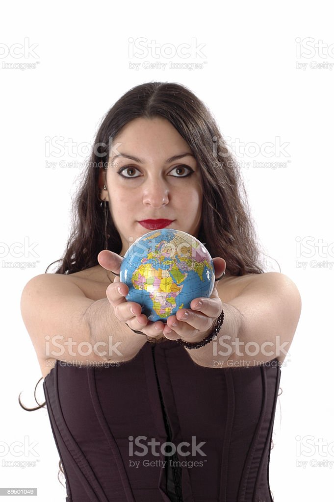 women and earth royalty free stockfoto