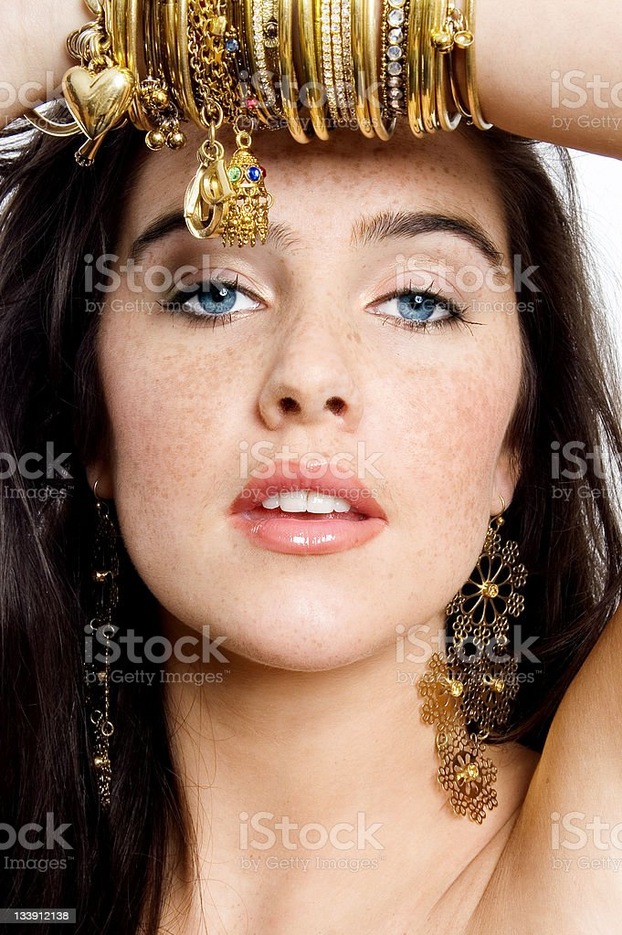 Women And Gold - 4 royalty-free stock photo