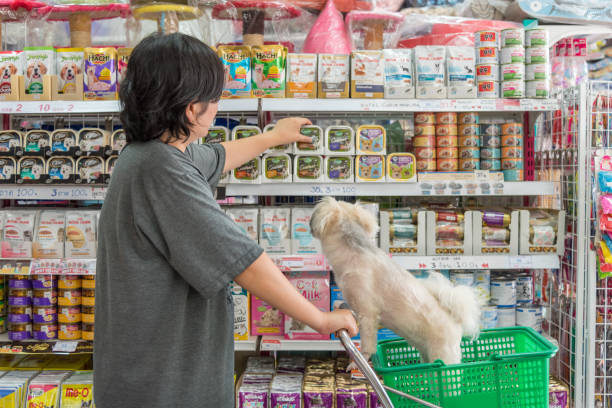 Women and her dog shop a pet food on pet goods shelf in pet shop picture id674942584?b=1&k=6&m=674942584&s=612x612&w=0&h=uxq37i923igbdm2nyzs2xyhiwp bssbryu4gsc 0ouw=