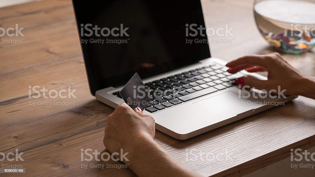 women and Laptop stock photo