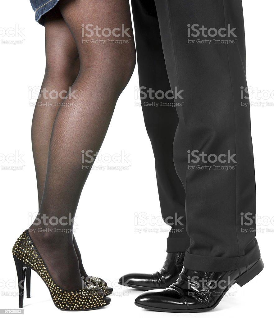 Women and man leg royalty-free stock photo