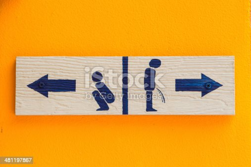480193462 istock photo Women and Men Toilet Sign 481197867