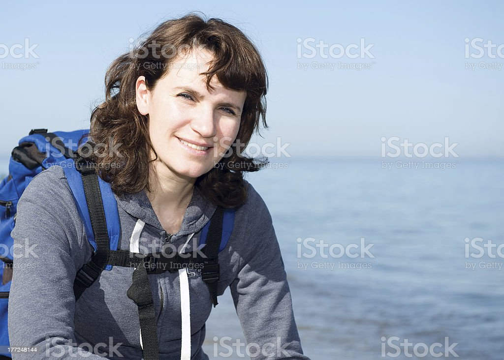 Women and sea royalty-free stock photo