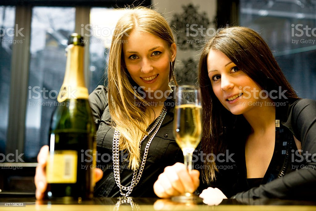 Women at bar royalty-free stock photo
