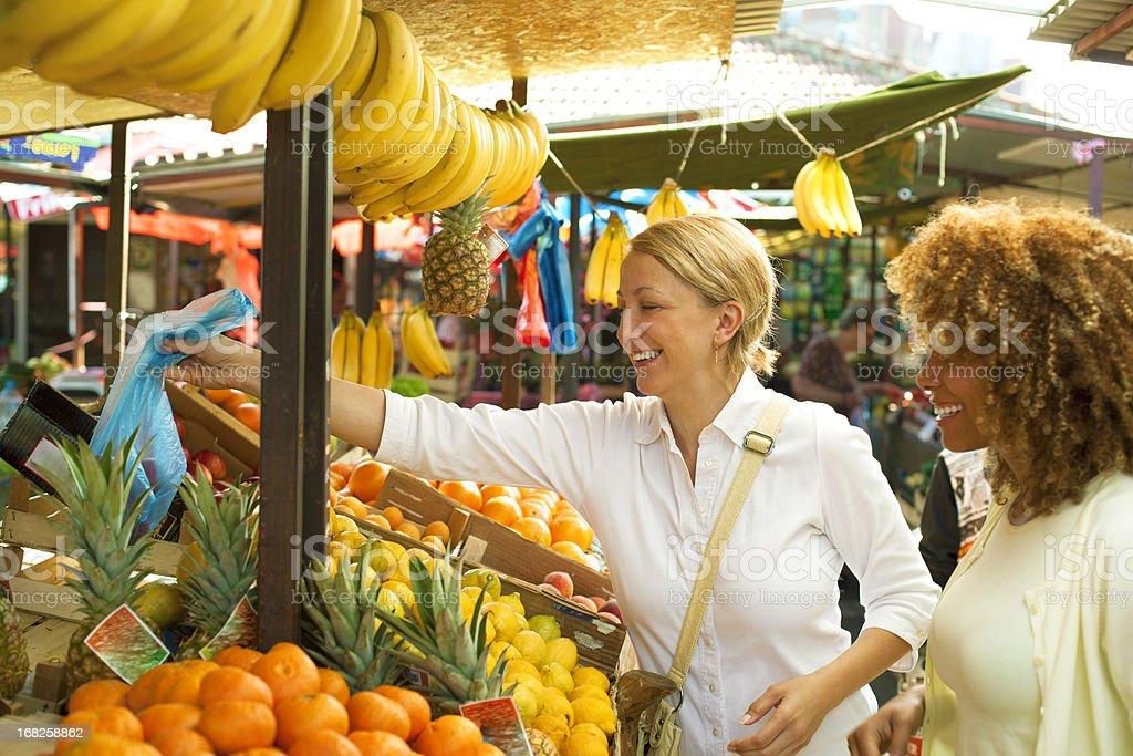 Women at market. royalty-free stock photo