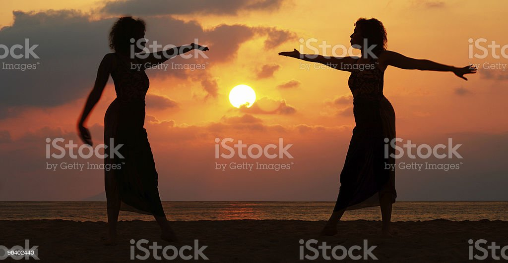 Women at sunset - Royalty-free Adult Stock Photo