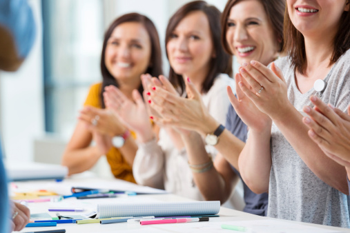 Women At The Seminar Stock Photo - Download Image Now