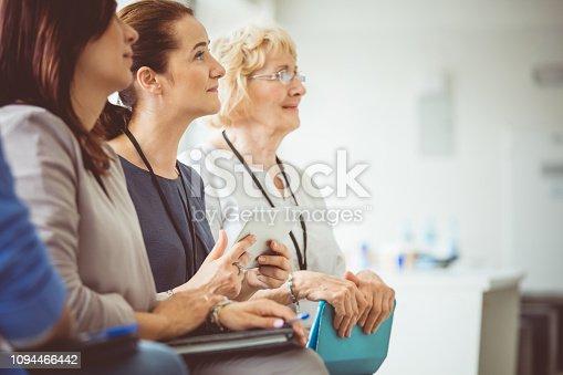 614852062 istock photo Women attending a seminar 1094466442