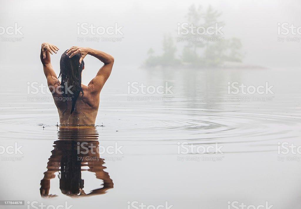 Women Bathing In Lake Stock Photo - Download Image Now -1861