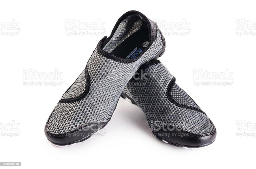 Women black stylish sport shoes isolated royalty-free stock photo