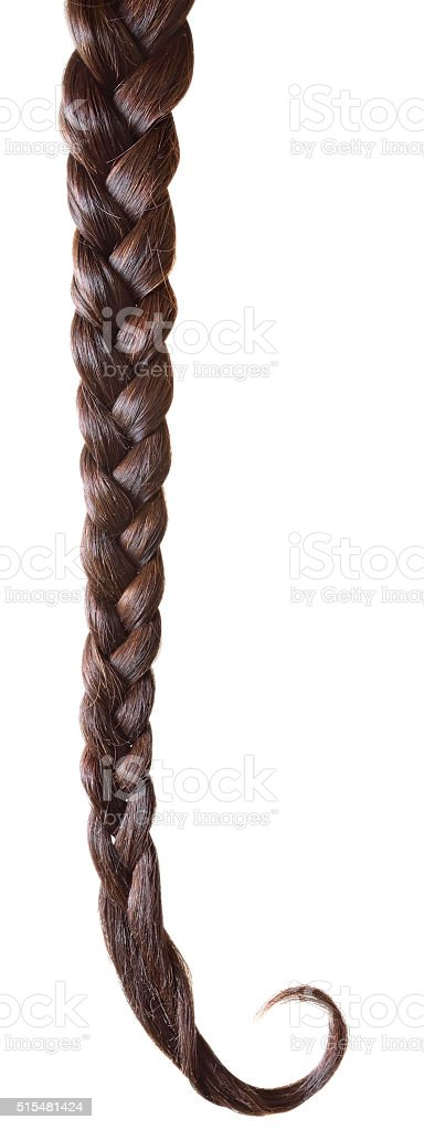 Women braid isolated stock photo