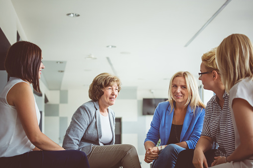 Women Brainstorming During A Training Stock Photo - Download Image Now