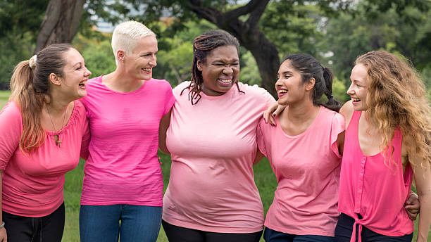 Women Breast Cancer Support Charity Concept Women Breast Cancer Support Charity Concept environmental consciousness stock pictures, royalty-free photos & images