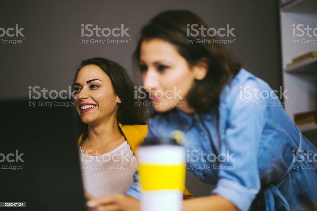 Women Brought Smile to Businessworld stock photo