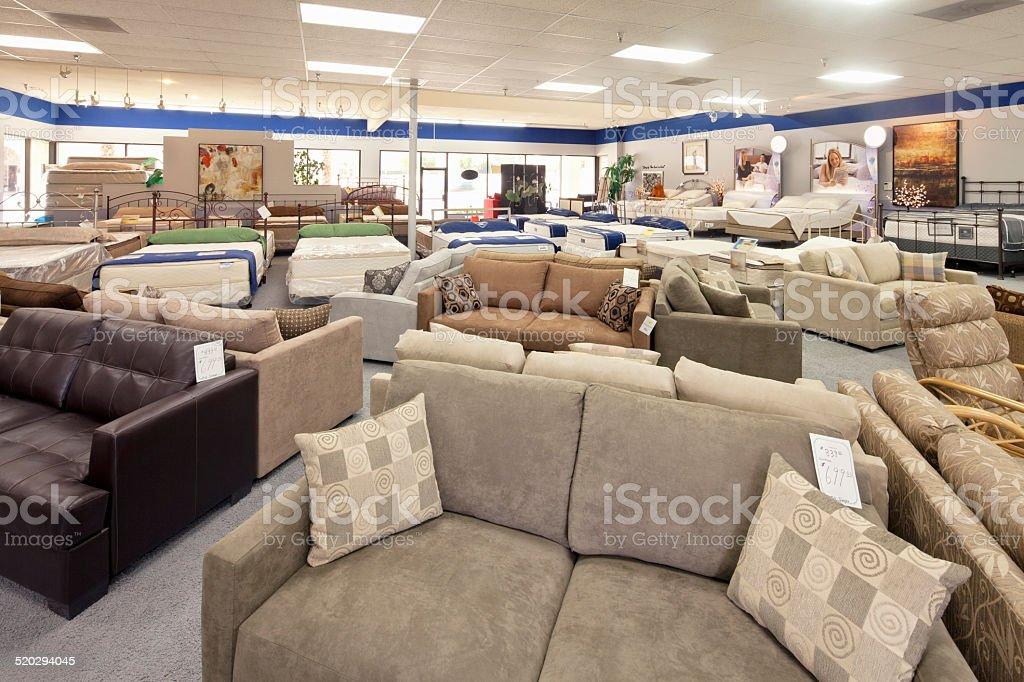 Women buying new furniture stock photo