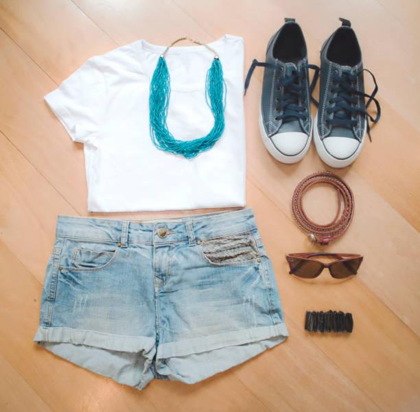 Women casual summer clothes stock photo