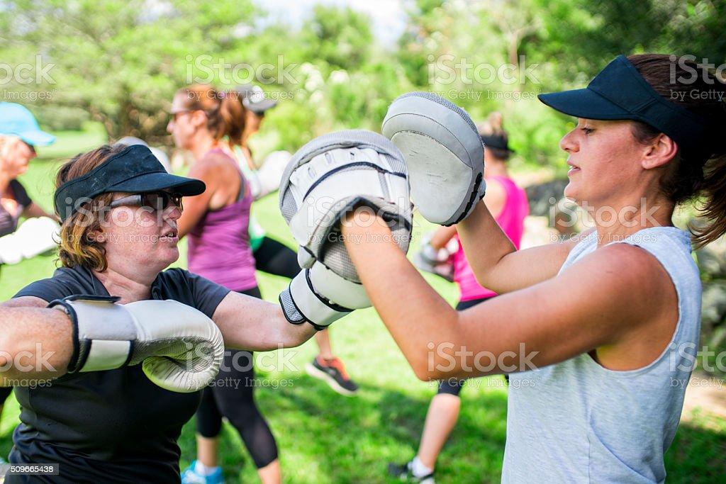 Women Cross Fitness stock photo