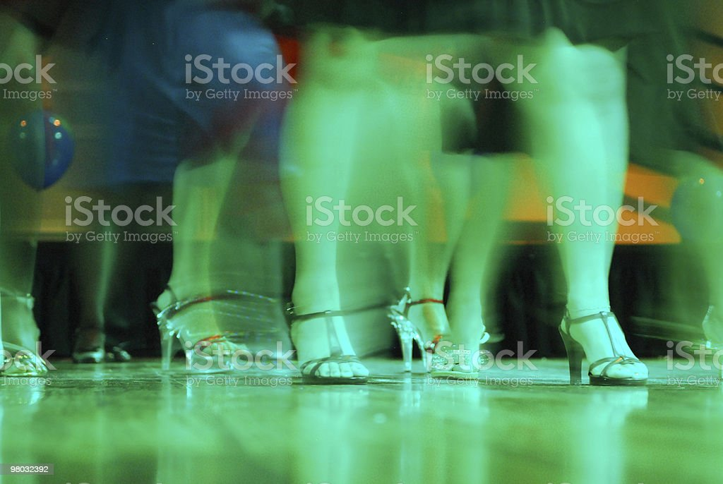 Women dancing at party stock photo