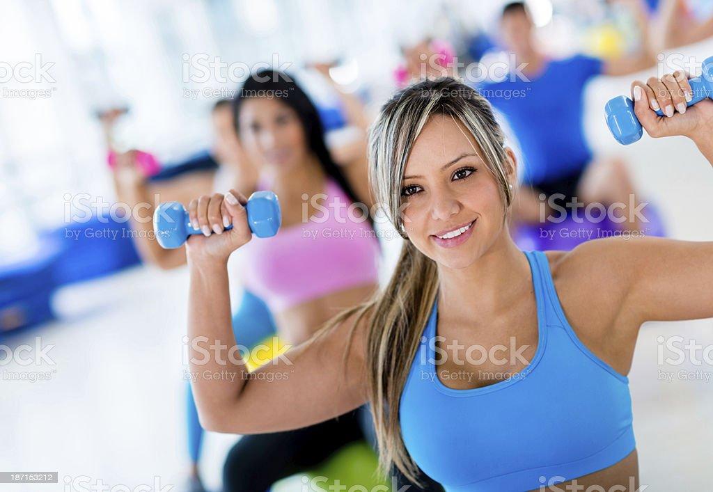 Women doing Pilates royalty-free stock photo