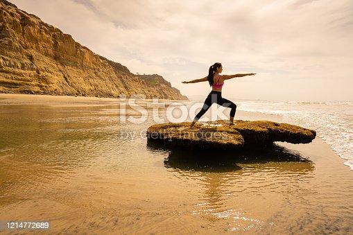 Women Doing Yoga Torrey Pines Beach and Bluffs